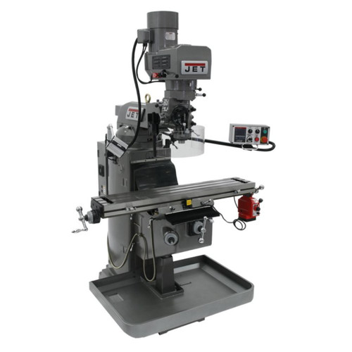 JET JTM-949EVS JTM-949EVS 230V 9 in. x 49 in. Mill with Newall DP700 DRO with X-Axis Powerfeed image number 0