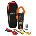 Klein Tools CL450 HVAC Cordless Electrical Clamp Meter Tester with Differential Temperature Kit image number 0