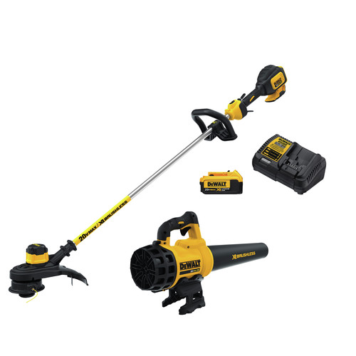 Factory Reconditioned Dewalt DCKO97M1R 20V MAX Lithium-Ion Cordless String Trimmer and Blower Combo Kit image number 0