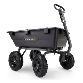 Gorilla Carts GOR6PS 1,200 lb. Capacity Poly Garden Dump Cart
