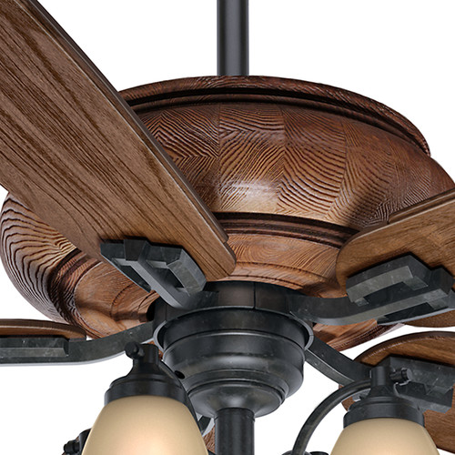 Casablanca 55051 60 in. Heathridge Aged Steel Ceiling Fan with Light and Remote image number 6