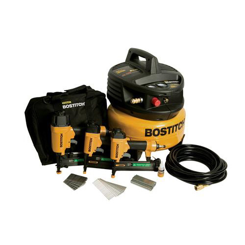 Factory Reconditioned Bostitch U/CPACK300 3-Tool Finish & Trim Compressor Combo Kit