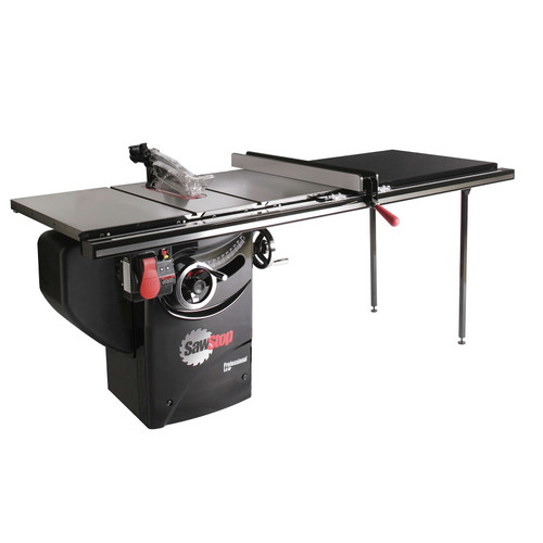 SawStop PCS31230-TGP252 220V Single Phase 3 HP 13 Amp 10 in. Professional Cabinet Saw with 52 in. Professional Series T-Glide Fence System