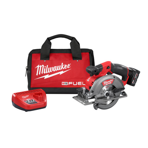 Milwaukee 2530-21XC M12 FUEL Li-Ion 5-3/8 in. Circular Saw Kit with XC Battery image number 0
