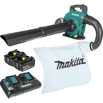 Makita XBU04PTV 18V X2 (36V) LXT Brushless Lithium-Ion Cordless Blower Kit with Vaccum Attachment (5 Ah)