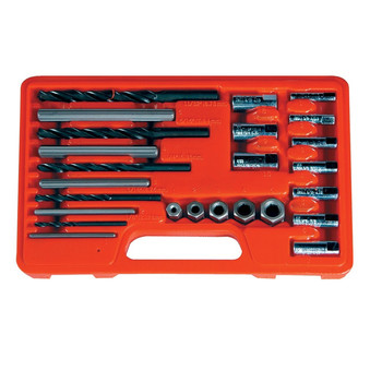 Astro Pneumatic 9447 25-Piece Screw Extractor/Drill & Guide Set