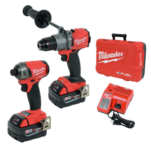 Milwaukee 2999-22 M18 FUEL 2-Tool Hammer Drill & SURGE Hydraulic Driver Combo Kit image number 0