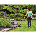Black & Decker LST522 20V MAX 2.5 Ah Cordless Lithium-Ion 12 in. 2-Speed String Trimmer/Edger Kit image number 4