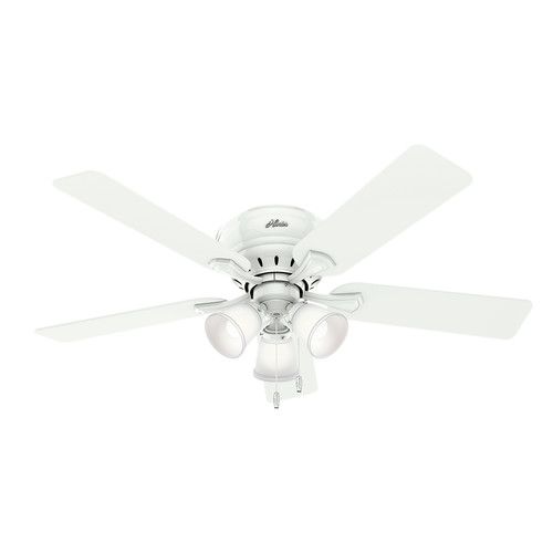 Hunter 53011 52 in. Reinert Snow White Ceiling Fan with Light
