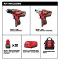 Milwaukee 2494-22 M12 Lithium-Ion 3/8 in. Drill Driver and Impact Driver Combo Kit image number 5
