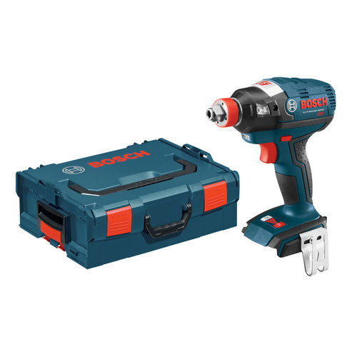 Factory Reconditioned Bosch IDH182BL-RT 18V Cordless Lithium-Ion Brushless Socket Ready Impact Driver (Bare Tool) with L-BOXX 2 Case & ExactFit Insert Tray