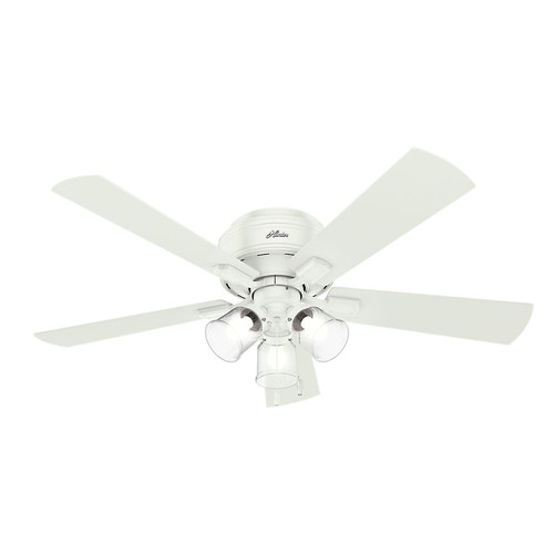 Hunter 54207 52 in. Crestfield Fresh White Ceiling Fan with Light image number 0