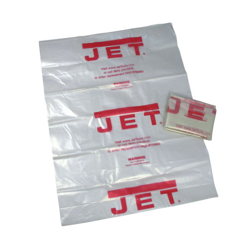 JET CB-5 14 in. Clear Plastic Collection Bag (5-Pack)