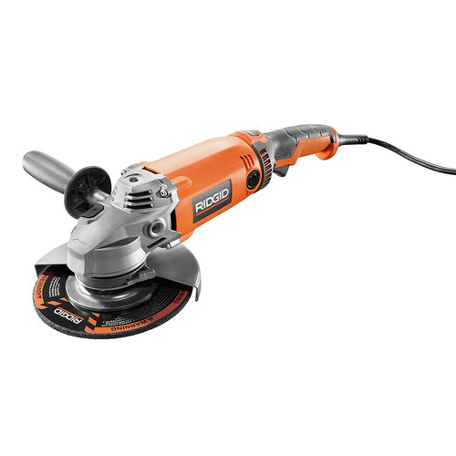 Factory Reconditioned Ridgid ZRR10202 15 Amp 17 in. Twist Handle Angle Grinder