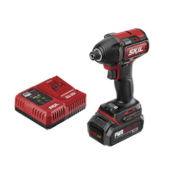 Skil ID573902 PWRCore 20 20V Brushless Lithium-Ion Hex 1/4 in. Cordless Impact Driver Kit (2 Ah)