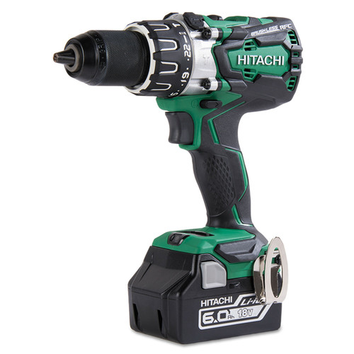 Hitachi DV18DBL2 18V Lithium-Ion 1/2 in. Cordless Hammer Drill Kit (6 Ah) image number 1
