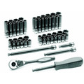 Grey Pneumatic 89653CRD 53-Piece 1/4 in. Drive 6-Point SAE/Metric Standard and Deep Duo-Socket Set image number 0