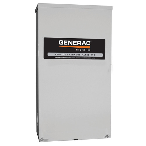 Generac RTSN100K3 100 Amp 277/480 3-Phase RTS Transfer Switch for 22 - 60 kW Generators