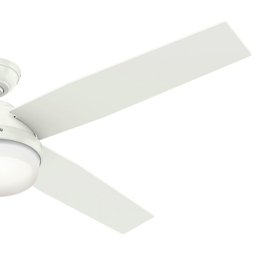 Hunter 59442 60 in. Dempsey with Light Fresh White Ceiling Fan with Light and Handheld Remote image number 1
