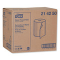 Tork 214250 12-Piece/Carton 7.88 in. x 425 ft. Hardwound Roll Towels - Natural White image number 1
