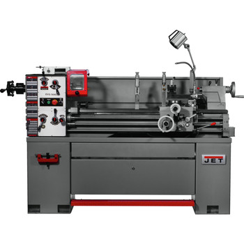 JET 311451 EVS-1440 3 HP Variable Speed Lathe with Newall DP700 DRO, Taper Attachment & Collet Closer