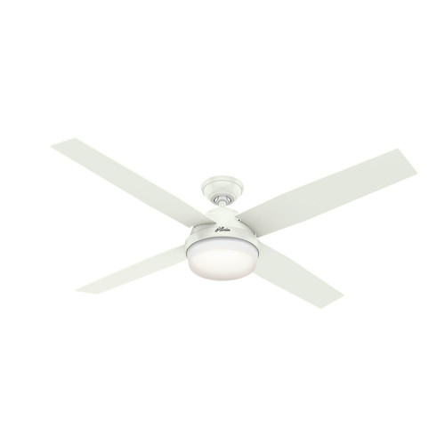 Hunter 59442 60 in. Dempsey with Light Fresh White Ceiling Fan with Light and Handheld Remote image number 0