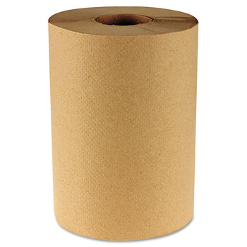 Boardwalk B6252 12 Rolls/Carton 1-Ply 8 in. x 350 ft. Hardwound Paper Towels - Natural