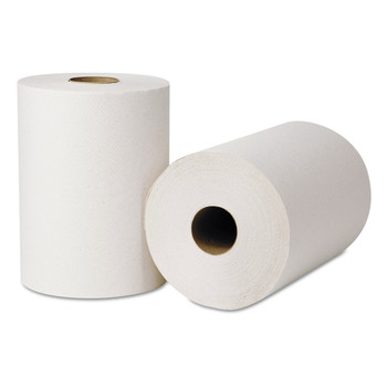 Tork 214250 12-Piece/Carton 7.88 in. x 425 ft. Hardwound Roll Towels - Natural White