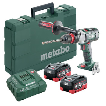 Metabo 602357620 18V LTX-3 SB 18 BL Q I LiHD 3-Speed Brushless 1/2 in. Cordless Hammer Drill Kit (5.5 Ah) image number 0