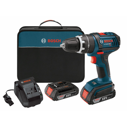 Factory Reconditioned Bosch DDS181-02-RT 18V Cordless Lithium-Ion Compact Tough 1/2 in. Drill Driver with 2 Slim Pack HC Batteries