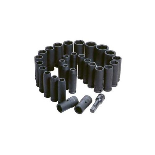 ATD 4901 29-Piece 1/2 in. Drive SAE/Metric Deep Impact Socket Set image number 0