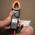 Klein Tools CL210 Digital AC Auto-Ranging Cordless Clamp Meter Tester with Thermocouple Probe Kit image number 5