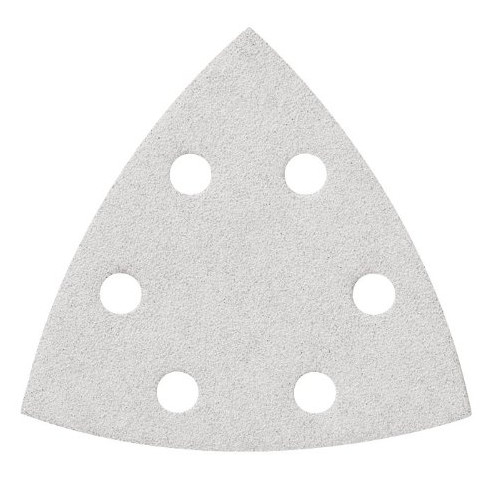 Bosch SDTW240 240-Grit White Detail Triangular Hook and Loop Sanding Sheets (5-Pack)