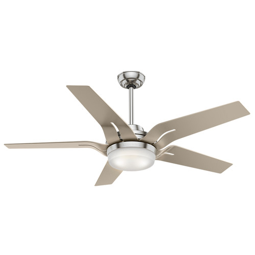 Casablanca 59197 Correne 56 in. Brushed Nickel Champagne Plastic Indoor Ceiling Fan with Light and Remote image number 0
