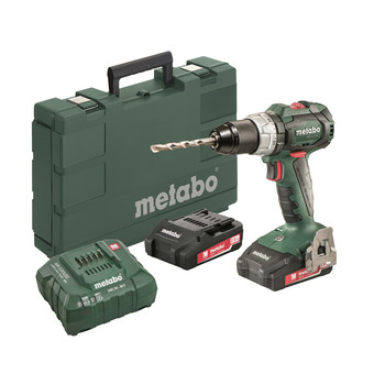 Metabo 602316520 18V LT SB 18 BL Lithium-Ion Brushless 1/2 in. Cordless Hammer Drill kit (2 Ah) image number 0
