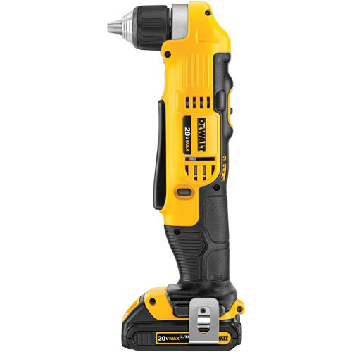 Factory Reconditioned Dewalt DCD740C1R 20V MAX Cordless Lithium-Ion Compact Right Angle Drill Kit