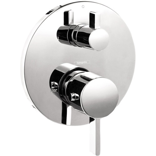 Hansgrohe 04231000 S Thermostatic Trim with Volume Control & Diverter (Chrome)