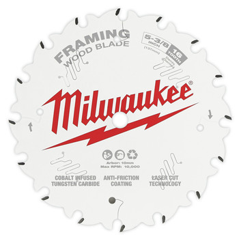 Milwaukee 48-40-0522 5-3/8 in. 16T Framing Circular Saw Blade image number 0