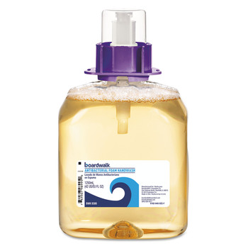 Boardwalk 6162-04-GCE00VL 4/Carton 1250 mL Foam Antibacterial Handwash Refill - Fruity