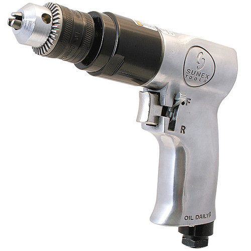 Sunex SX223 3/8 in. Reversible Air Drill with Geared Chuck image number 0