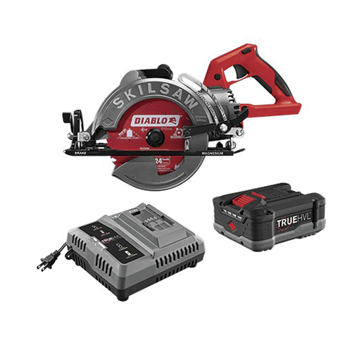 SKILSAW SPTH77M-12 TRUEHVL 7-1/4 in. Cordless Worm Drive Saw Kit with (1) 5 Ah Lithium-Ion Battery and (1) 24-Tooth Diablo Carbide Blade image number 0
