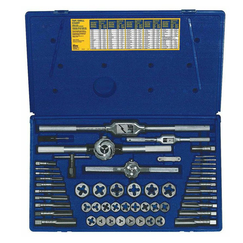 Irwin Hanson 24640 53-Piece Machine Screw/SAE Tap and Hex Die Set