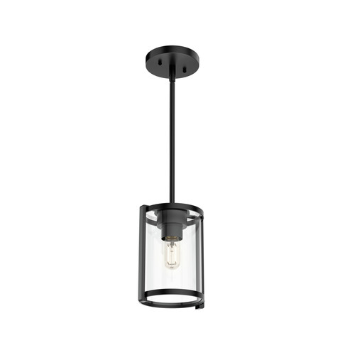 Hunter 19005 Astwood Matte Black 1-Light Cylinder Pendant image number 0
