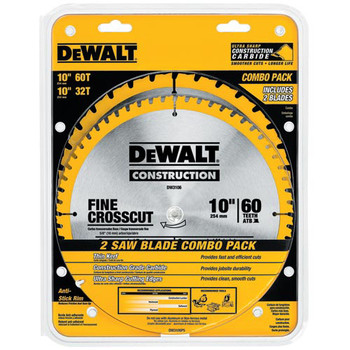 Dewalt DW3106P5 2 Pc 10 in. Series 20 Circular Saw Blade Combo Pack image number 0