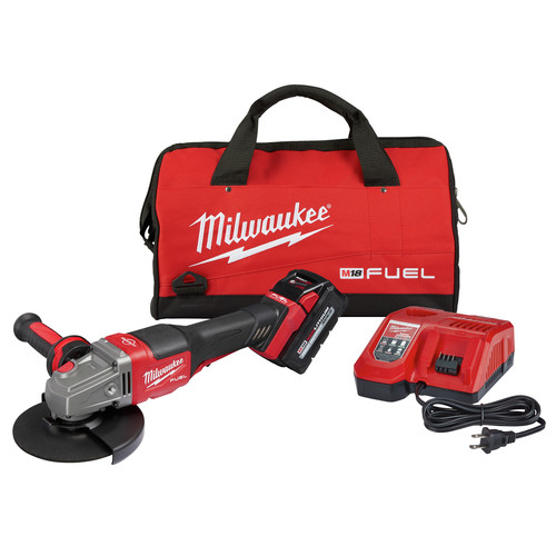 Milwaukee 2980-21 M18 FUEL 4-1/2 in. - 6 in. Braking Grinder Kit with No-Lock Paddle Switch & (1) 6 Ah Li-Ion Battery image number 0