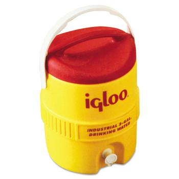 Igloo 421 400 Series Industrial 2 Gallon Cooler - Red/ Yellow