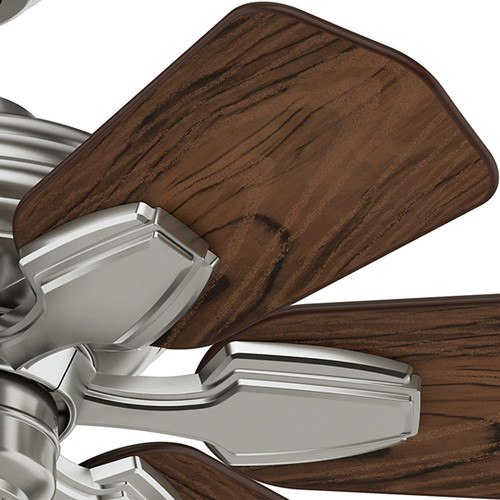 Casablanca 59524 31 in. Traditional Wailea Brushed Nickel Dark Walnut Outdoor Ceiling Fan image number 1