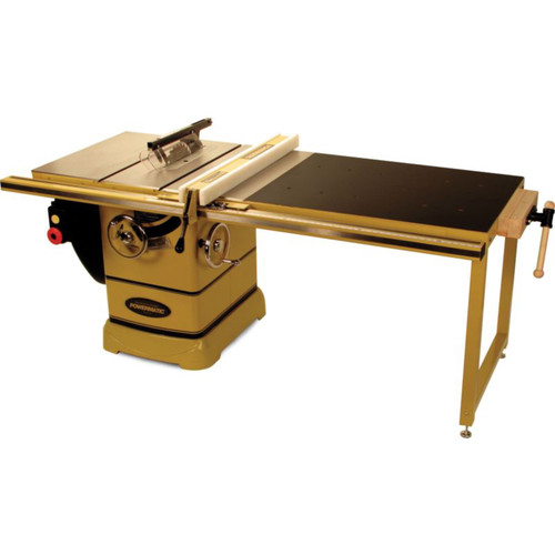 Powermatic PM2000 3 HP 10 in. Single Phase Left Tilt Table Saw with 50 in. Accu-FenceWorkbench and Riving Knife