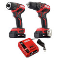 Skil CB736701 PWRCore 12 12V Brushless Drill Driver and Impact Driver Kit with (2) 2 Ah Lithium-Ion Batteries and PWRJUMP Charger image number 1