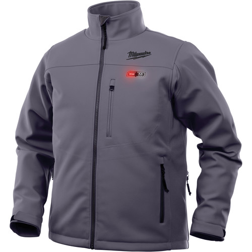 Milwaukee 202G-20S M12 Heated TOUGHSHELL Jacket (Jacket Only) - Gray, Small image number 0
